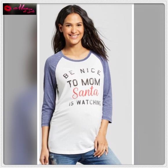 3b243025bb5cf Grayson Threads Tops | Maternity Fun Christmas 34 Sleeve Tshirt ...